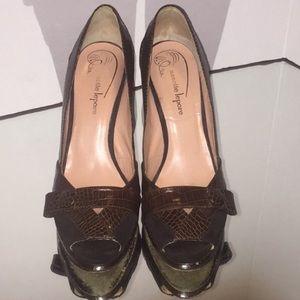 *SALE* Nanette Lepore brown python shoes